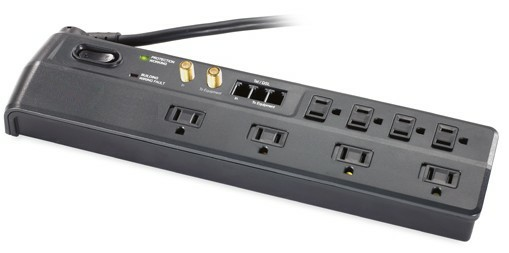 Surge Protector with phone jack